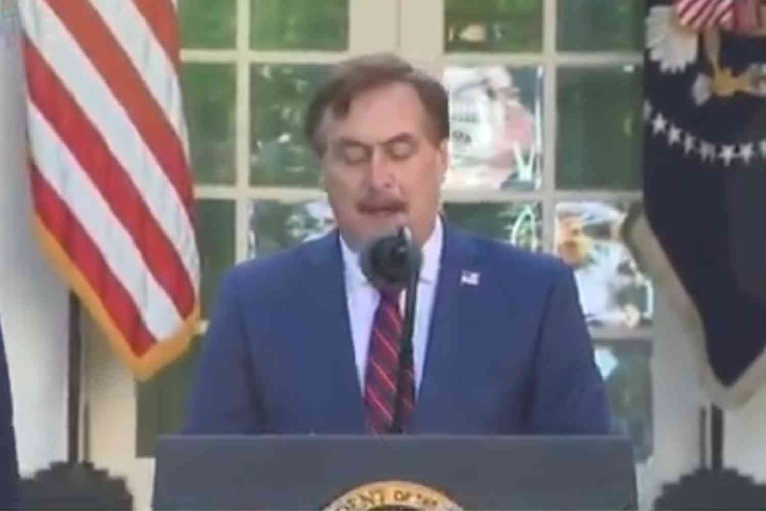 MyPillow CEO Mike Lindell uses press conference to encourage Americans to read their Bibles, turn to God