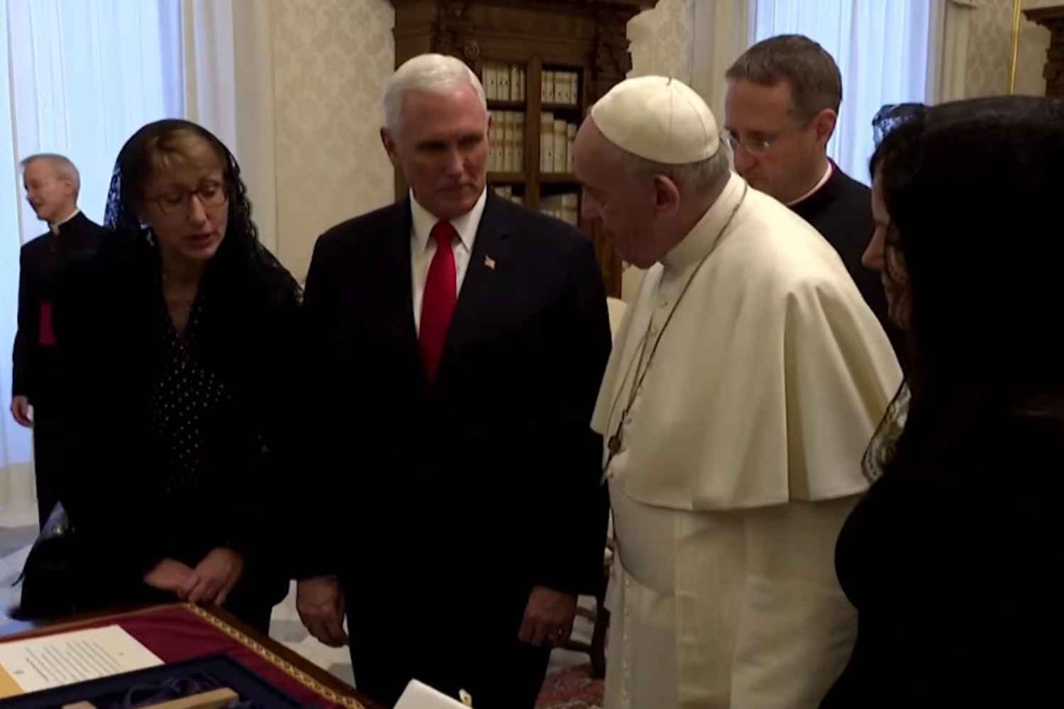 VP Pence meets Pope Francis at Vatican for hour-long private conversation